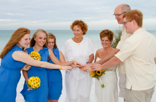 Vow Renewal With Family